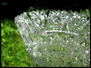 Elegáns és szép kristályváza